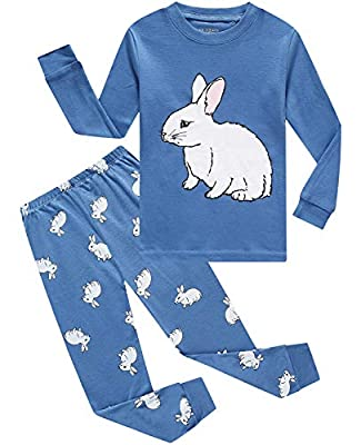 Little Pajamas Boys Pjs Easter Rabbit Toddler Sleepwear Kids Easter Gift Clothes Sets Size 12 Blue