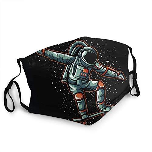 Mascarilla facial de astronauta en galaxia, lavable, máscara...