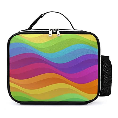 Bolsa Térmica Infantil Color Del Arco Iris Bolsas De Almuerzo Isotermica Organizador Del Almuerzo Para Niñas Niños 21x27x9cm