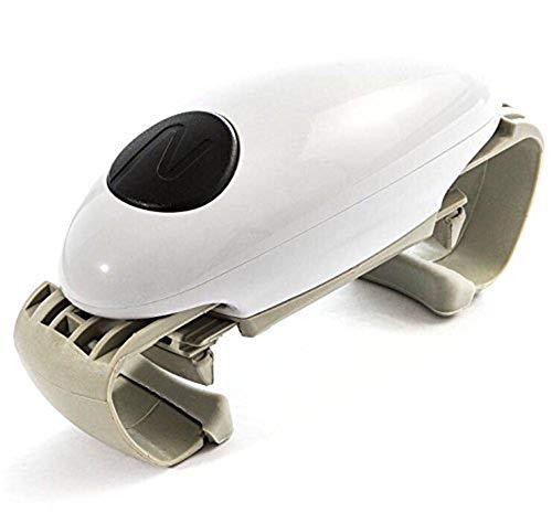 FENGT Ouvre-Bocal Automatique One Touch Ajustable Easy Can Tin Open Tool, Bouteille Décapsuleur Accessoires De Cuisine Polyvalents