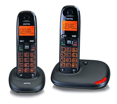 Switel DC5002 VITA duo Seniorentelefon, zweier SET schnurlose DECT-Telefone, große Tasten und Display beleuchtet, Hörgerätekompatibel