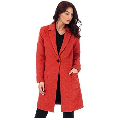 Only Onlastrid Marie Coat Otw Abrigo, Marrón (Burnt Wax Henna Detail: Melange), Medium para Mujer