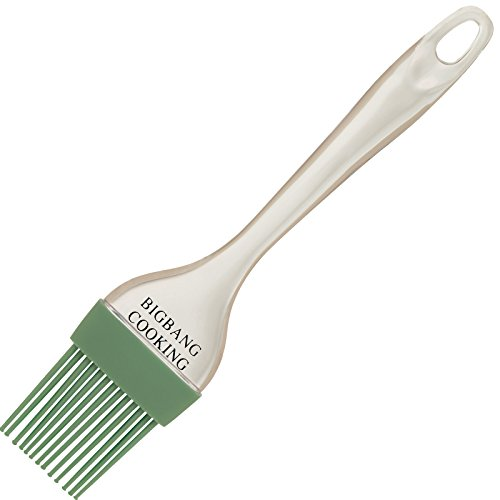 Silicone Pastry Brush Green By Big Bang Cooking - the Perfect Baster or Basting Olive Oil, Butter, BBQ Sauce, Honey on Your Meat, Vegetables, Cake and Pastries - Brushing Will Never Be That Easy with Its Perfect Sized Bristles and Comfortable Handle