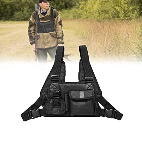Arnés de seguridad para radio de caza, doble universal, para senderismo, camping y bomberos