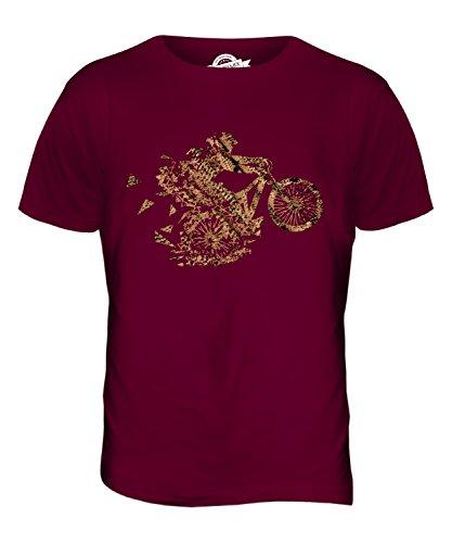 Candymix – Mountain Biker Triangular Splatter – Camiseta para hombre Rojo granate XXL