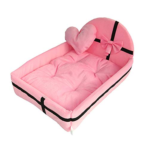 SFBBBO cat bed dog bed Pet Bed Dog Puppy Cat Detachable Nest Soft Warm For Sleeping Cotton Mats Sofa For Small Large Dog Dog Basket Pet Bed 30 * 20 * 7cm Pink