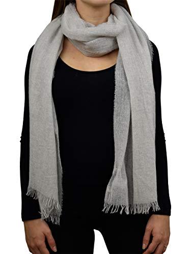 DALLE PIANE CASHMERE - Pashmina aus 100% Kaschmir - für Frau, Farbe: Grau, Einheitsgröße