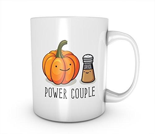 Power Couple Pumpkin Spice Cute Cartoon Vegetables Keramik Tasse Kaffee Tee Becher Mug