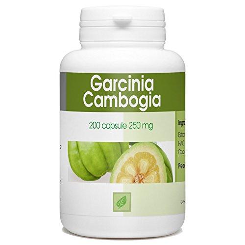 Garcinia Cambogia - 60% di HCA - 250mg - 200 capsule