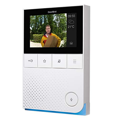 DoorBird IP Video Indoor Wall Station Intercom A1101, 4' Color Display - Surface mounting - WiFi Ethernet and POE - 2 Year Warranty and Enhanced Video Instructions