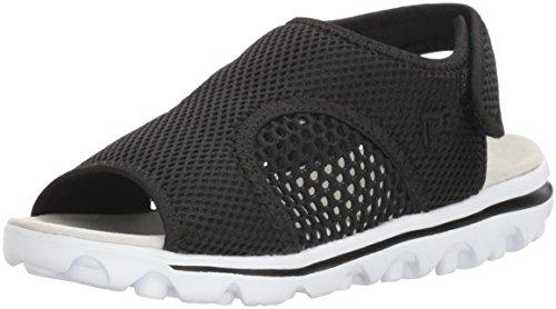 Propet Womens TravelActiv Ss Sandal, Black, 11 4E US