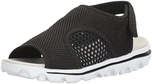 Propet Women's TravelActiv Ss Sandal, Black, 7 W US