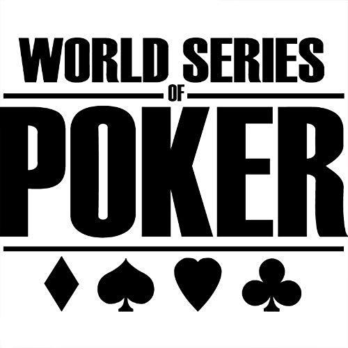Ambiance World Series of Poker - Adesivo da Parete, 55 x 70 cm, Colore: Nero