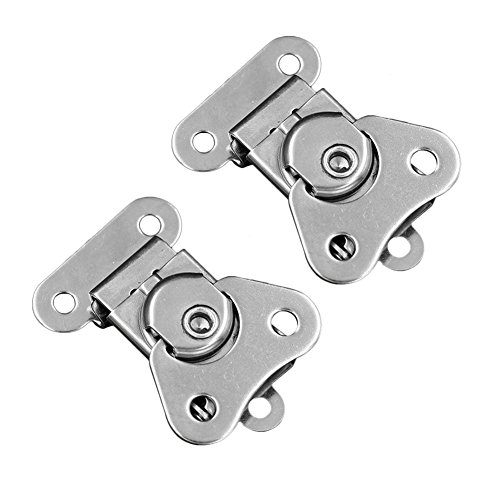 YES Time 2 Pcs 304 Stainless Steel Wooden Box Chest Rotary Draw Latch Toggle Hasp Latch Lock Buckle