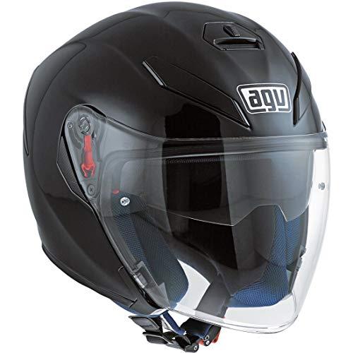 AGV unisex adult K-5 Jet Agv E2205 Solid - Motorrad Helm, schwarz, L EU