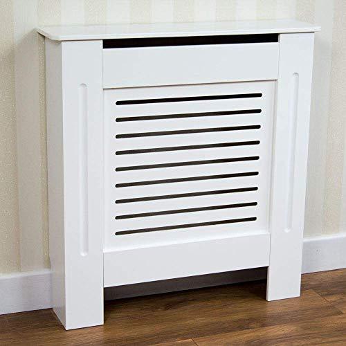 Vida Designs Milton Radiator Cover Modern White Painted MDF Cabinet, Small