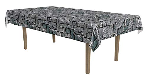 """Beistle Stone Wall Tablecover, 54"""" x 108""""(4.5ft x 9ft)"""