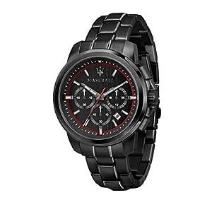 Reloj para Hombre, Colección Successo, cronografo, en Acero y PVD Negro