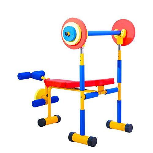 Kinbor Fitness Exercise Equipment for Kids Children Weight Bench Set,Birthday Gifts