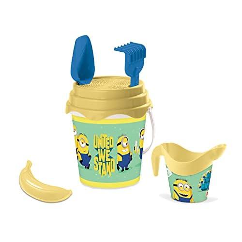 Mondo Toys Minions Bucket Set, Set Mare Renew Toys con Secchiello, Paletta, Rastrello, Setaccio, Formina, Annaffiatoio Inclusi, 28131