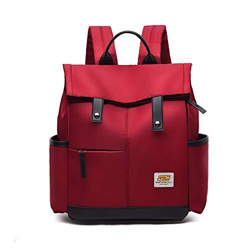 BARUYO Zaino Da Moda Scuola Casual Oxford Antifurto Impermeabile Per Donna, Zaino Da Viaggio Leggero Da Donna Con Tracolla Multitasche Zaino Da Ragazza 31 cm x14 cm x34 /rosso