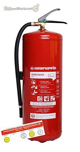 ABC 12kg Pulverfeuerlöscher PG 12 PDY Neuruppin 15LE Dauerdruck und Instandhaltungsnachweis von Feuerlöscher-Tauschsystem