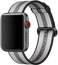 Apple MQVR2FE/A Watch 42mm Black Stripe Woven Nylon