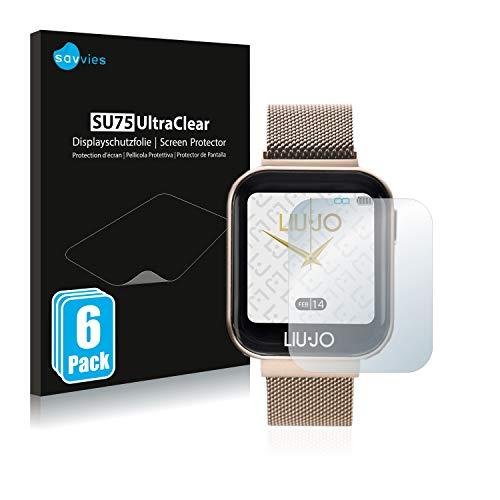 savvies 6-Pezzi Pellicola Protettiva Compatibile con Liu Jo Smartwatch Protezione Schermo Trasparente