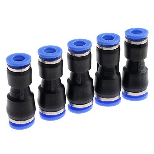 5pcs Pneumatische Fittings Push in Fitting Steckverbinder für Luft Wsser Schlauchanschluss