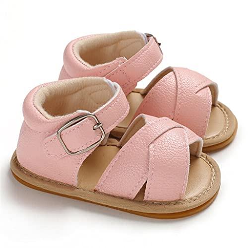 Summer Baby Boy Girl Sandals Prewalker Newborn Kids Leather Soft Sole Crib Shoes (Color : C, Size : 6-12 Months)