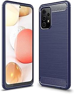 لسامسونج جالاكسي ايه 52جراب خلفي كربون فيبر راجيد ارمور ضد الصدمات لهاتف لسامسونج جالاكسي ايه 52 (Samsung Galaxy A52) - ازرق