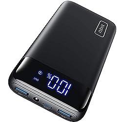 INIU Powerbank, 20W PD3.0 QC4.0 Schnelles Aufladen 20000mAh LED Display Externer Akku, Tri-Outputs USB C Power bank Kompatibel mit iPhone Samsung Huawei Xiaomi Oppo iPad Tablet und mehr [2021 Version]