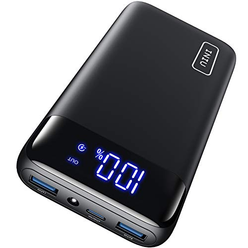 INIU Powerbank, 20W PD3.0 QC4.0 Schnelles Aufladen 20000mAh LED Display Externer Akku, Tri-Outputs USB C Power bank Kompatibel mit iPhone Samsung Huawei Xiaomi Oppo iPad Tablet und mehr [2021 Version]