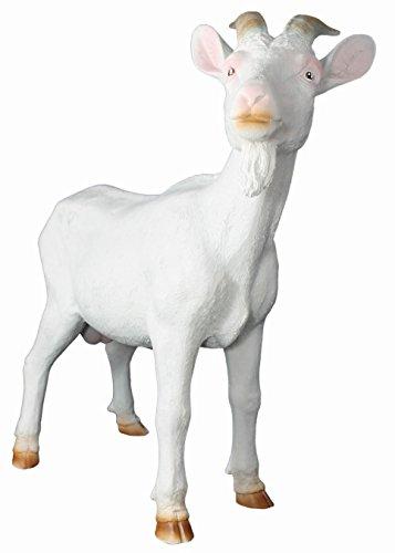 Dekofigur Geißbock Ziege weiß