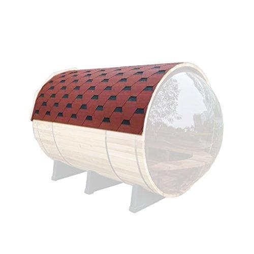 ALEKO SB5ABRF Asphalt Shingle Sauna Roof for 71 x 71 Inch Barrel Sauna Red