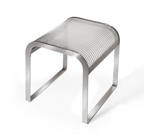 Design Tabourets avec le maille en acier inoxydable de .STOOL | pour maison et jardin, terrasse, balcon | De haute qualité et très durable