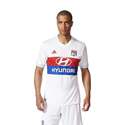 adidas Herren Olympique Lyon Heimtrikot Replica Olimpique, White/Colred/Croyal/C, XL
