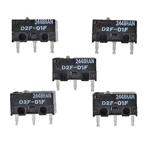 オムロン (OMRON) 純正 マイクロスイッチ ピン押ボタン形 プリント基板用端子 微小負荷 定格0.1A 5個セット...