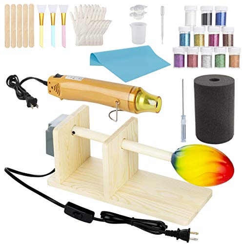 Cup Turner Tumbler Cuptisserie Heat Gun Set, Cup Spinner for DIY Glitter Epoxy Crafts Tumblers
