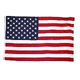 Onsinic 35.4x59 Pulgadas Bandera Grande Gran Bandera De Bandera De Estados Unidos Poliéster Impreso Bandera Nacional De Estados Unidos con Ojales De Latón