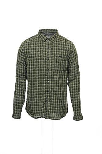 Converse 'Black Canvas' Yellow Green Plaid Button Down Shirt Sport, Size Small