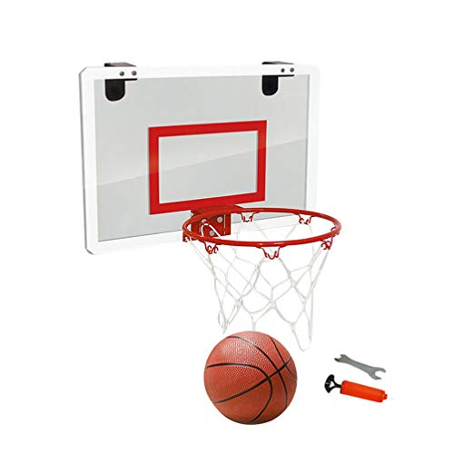 BESPORTBLE deur opknoping basketbal board, geen ponsen opknoping basketbal plaat, transparante Suspension basketbal board Mini backboard voor thuis (zwart)