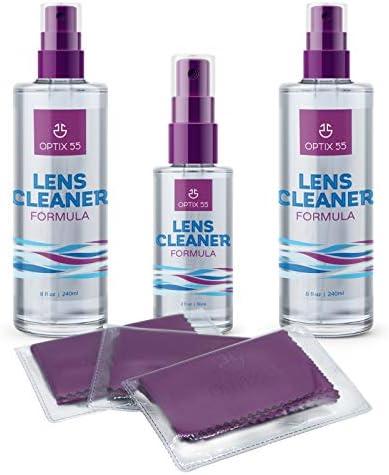 Lens Cleaner Spray Kit Alcohol Ammonia Free 2 8oz 1 2oz Eye Glasses Cleaner Spray 3 Microfiber product image