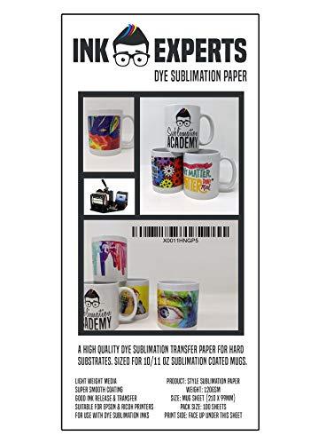 Ink Experts Sublimationspapier, Sublimationspapier, 120 g/m² 100 Sheets