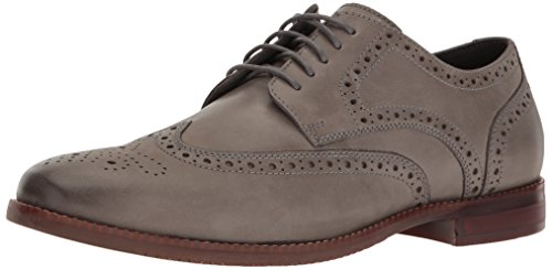 Rockport Men's Style Purpose Wing Tip Oxford, Grey Leather, 11.5 M US