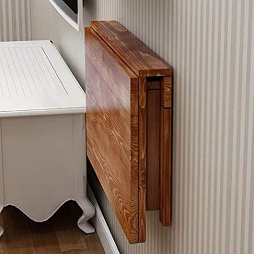 ZXL Vouwen massief hout eettafel Vouwen opklapbare tafel Vouwen carboniseren opklaptafel (Maat: 120 * 40 cm)