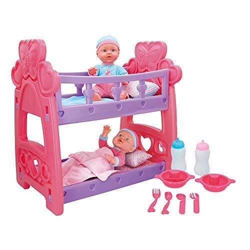 ColorBaby -  Bebés gemelos blanditos con cuna y accesorios Colorbaby's (43707)