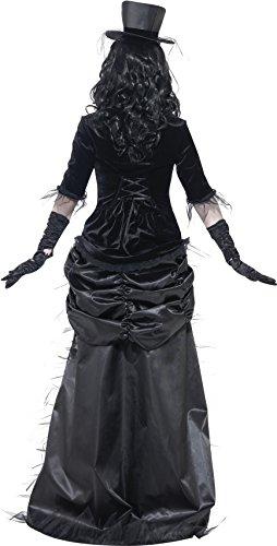 SMIFFYS Costume Vedova Nera Città Fantasma, Grigio, comprende Top, Gonna e Cappello
