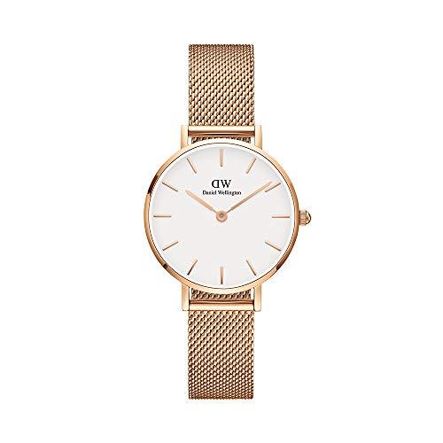 Daniel Wellington Petite Melrose, Roségold/Roségold Uhr, 28mm, Mesh, für Damen