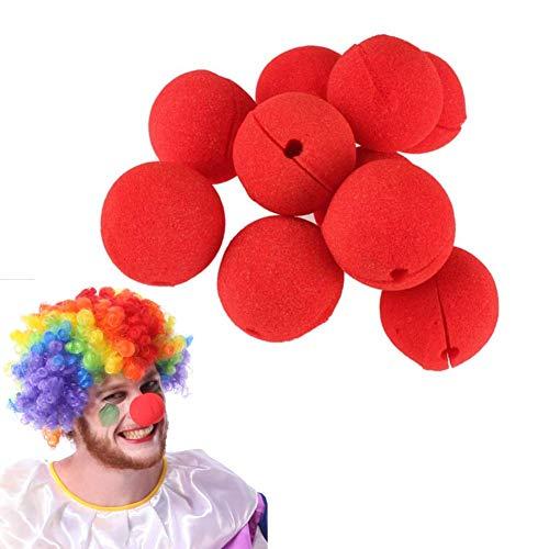 U/K Esponja para disfraz de payaso para cosplay, bailes de maquillaje, fiestas, paquete con 12 rojos, duraderos y prcticos